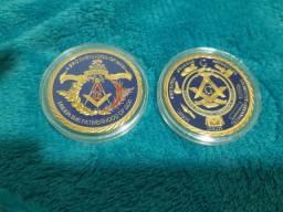 As duas últimas medalhas da maçonaria lacrada top capsulada oferta