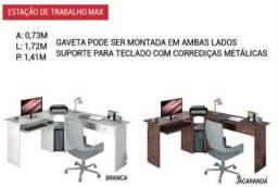 Título do anúncio: Mesa de escritório em L promoção faço entrega
