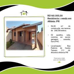 Título do anúncio: Residência á venda no Jardim Atlântico em Altônia/PR