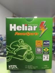 Título do anúncio: Bateria de Moto Heliar7l-6ah Falcon400cc,Fazer250,CB300,Twister250,XRE300.