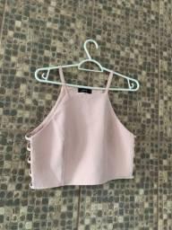 Cropped rosa bebe