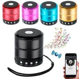 Mini Caixinha Som Bluetooth Portátil Usb Mp3 P2 Sd Rádio Fm