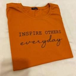 Camiseta t-shirt mostarda