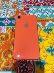 I Phone xr 128GB cor coral semi-novo, sem detalhes, pouquíssimo uso, adquirido em 6/4/2020