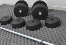 Malhe em casa Anilhas Caseiras 32kg + 3x barras