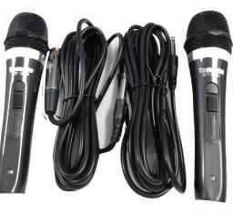 Microfones com  fios duplo Prof.