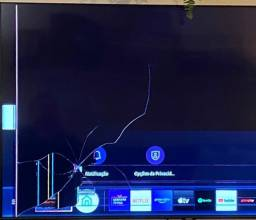 Tela da TV  55'' Modelo Q60T Samsung Com defeito
