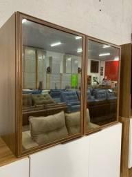 Armário aéreo com 2 portas de vidro