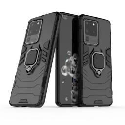 Capa 4 em 1 Anti Impacto Choque Militar Samsung Galaxy S20 Ultra, aceito cartão