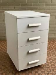 Criado branco 4 gavetas