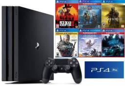 Título do anúncio: PS4 Pro com 6 jogos
