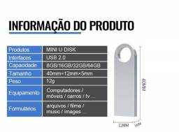Título do anúncio: Mini Pen drive Usb, pen drive de metal usb 64g  de memória de alta velocidade