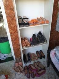 Lote roupas e sapatos femininas tamanhos variados