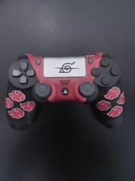 Controle DulShock PS4 customizado akatsuki estojo cabo grip Visual Controles