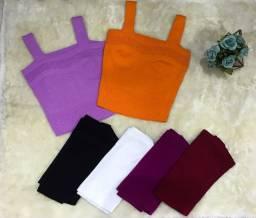 Blusas/ Cropped no Tricot modal de melhor qualidade