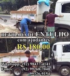 Retiro Entulho com ajudantes, preços a partir de 180 reais