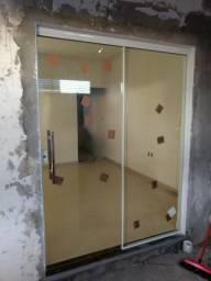 Porta de Correr 210x160 em Blindex - Promoção !!!