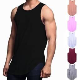 Kit 3 Regatas Longline Oversized C80 Camiseta Masculina Vcstilo