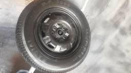 Roda 13 step pneu zero ac cartão torro 130$