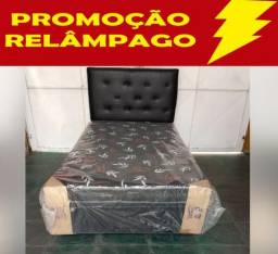 Cama Box Solteiro+Colchão Conjugado Entrega Imediata