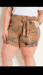 Short Plus size com laço