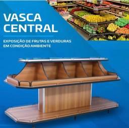 Vasca expositor frutas sacolão madeira NOVA