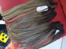 Vendo 3 faixas Pro Hair cabelo 100% humano liso e com mechas