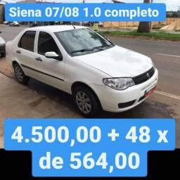 Siena 07/08 1.0 Completo 4.500,00 mais 48x de 564,00