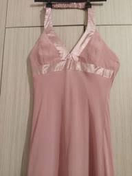 Vestido longo feminino vestido frente única