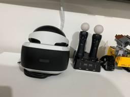 PlayStation VR versão mais atual, completo + 8 jogos + dois controler mover + carregador