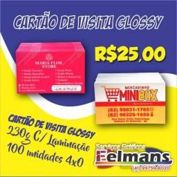 Cartões de visita Glossy 230g