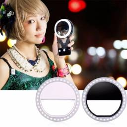 Novos acessórios para telefones celulares LED luz de de três engrenagens Selfie Live USB