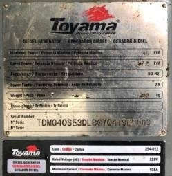 Grupo gerador Toyama