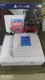 Título do anúncio: PS4 PRO 4K BRANCO MODELO NOVO