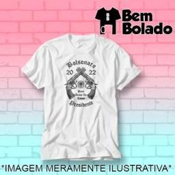 Título do anúncio: Camiseta Bolsonaro 2022 Presidente protesto branca Jair Bolsonaro