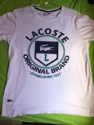 Camiseta lacoste live tamanho m usada