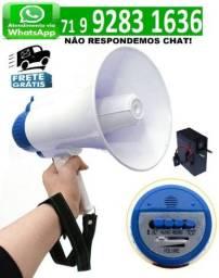 Megafone Recarregável Com Sirene Musical E Gravador