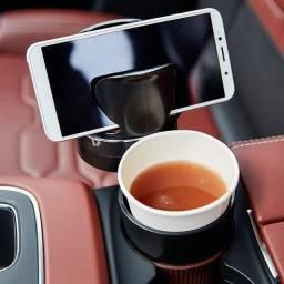 Título do anúncio: Porta Copo Veicular Rotativo 5 Em 1 Com Suporte Celular - Entrega Grátis!