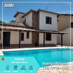 Vendo excelente casa com piscina no bairro Colinas em Rio das Ostras
