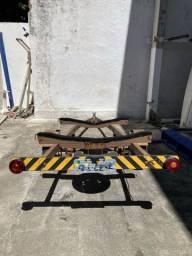 Carreta rodoviária para veleiro tipo Dingue ou Laser