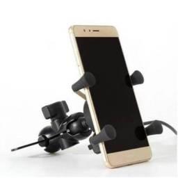 Título do anúncio: Suporte Garra X Para Celular Moto Universal Com Carregador Usb