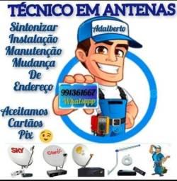 Título do anúncio: Técnico em antenas sky claro .