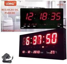 Relógio Parede Digital Led Le-2112 Temp - Data - Dia Bivolt