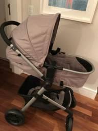 Carrinho de bebê + bebê conforto + base de carro