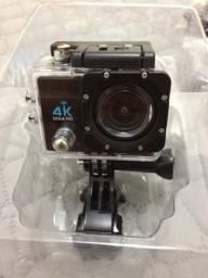 Câmera esporte, óculos virtual e impressora