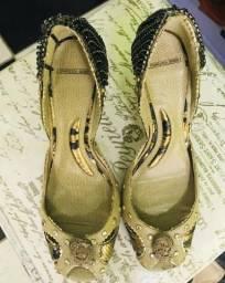 Peep Toe lindo,couro,detalhes,elegante, tamanho:38