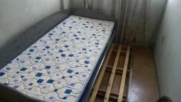 Sofá cama solteiro cinza