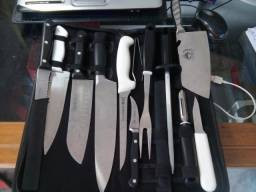 Faqueiro Chef Profissional Tramontina de Gastronomia Kit Completo e Estojo RS