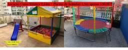 Aluguel Cama Elástica 2,44m + Piscina de bolinhas 1,5m por 150,00 ( Final de semana livre)