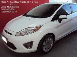 Ford New Fiesta SE 1.6 Flex - Completo - Branco - Placa A - 2012